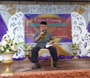 Mufti speaks before the 1st Closing Ceremony of Philippine Shari'ah Training in BARMM